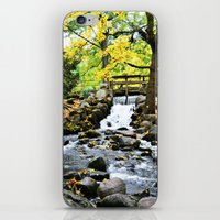 waterfall iPhone & iPod Skins featuring Waterfall by Juliana RW