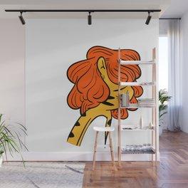 9yangi in wig - Pain Wall Mural