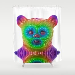 Neon Bear Shower Curtain