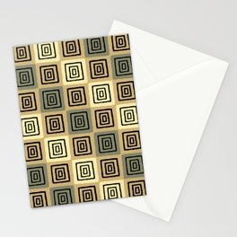 Mid Century Modern Geometric Checker 927 Stationery Cards