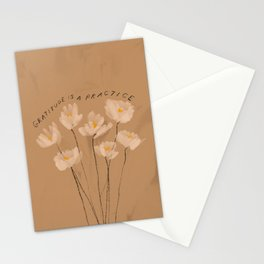 Gratitude Is A Practice Stationery Cards