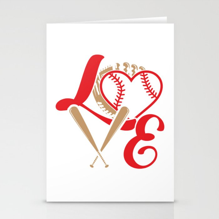 Baseball Lovers Softball Mom Fan Gift Stationery Cards