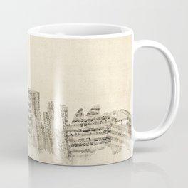 Sydney Australia Skyline Sheet Music Cityscape Coffee Mug