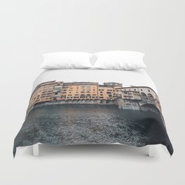 italian Architecture in Florence Duvet Cover