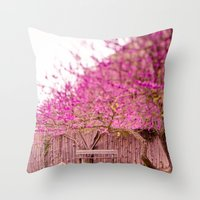 once upon a  time Throw Pillows featuring once upon a time by Hello Twiggs