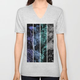 Old Tree in Blue and Gray Digital Art Coachella Valley Wildlife Preserve Unisex V-Neck