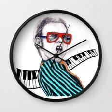 Vintage Elton - Analog Zine Wall Clock