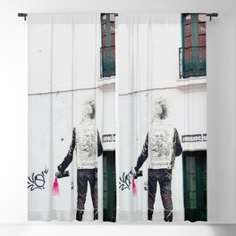 80's Punk Rock Graffiti Blackout Curtain