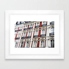 london red  Framed Art Print