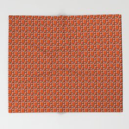 8-bit bricks Throw Blanket