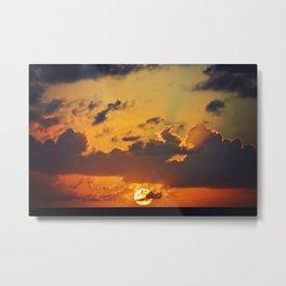 Ocean Sunset Metal Print
