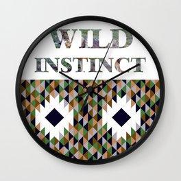 wild instinct wolf Wall Clock