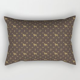 Louis Pug Face Luxury Dog Pattern Rectangular Pillow