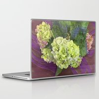 hydrangea Laptop & iPad Skins featuring hydrangea by Federico Faggion
