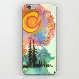 WaterColor Moon & Forest iPhone Skin