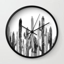 Catus 4 Black Wall Clock