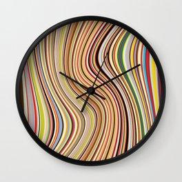 Old Skool Stripes - Flow Wall Clock