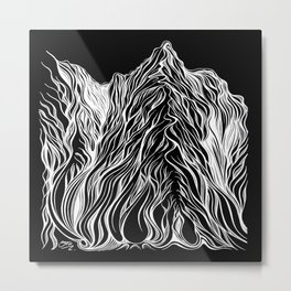 'Mountain Lines' Metal Print