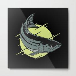 Coalfish Salmon Metal Print
