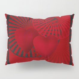 Love. The loving hearts . The red background . Pillow Sham