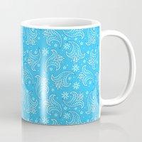 pacific rim Mugs featuring Pacific Rim - Otachi Flower pattern by feriowind