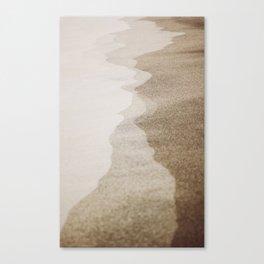 SANDY BEACH SHORE LINE Canvas Print