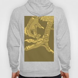 Two Untitled Chicken Feet in Yellow Hoody