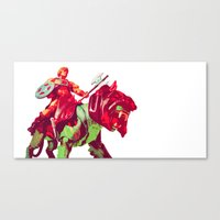he man Canvas Prints featuring he-man by BzPortraits