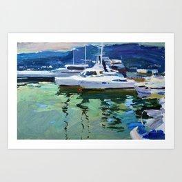 Tomorrow at sea Art Print