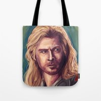 thor Tote Bags featuring Thor by pandatails