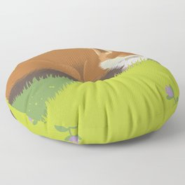 Snoozy Red Fox Floor Pillow