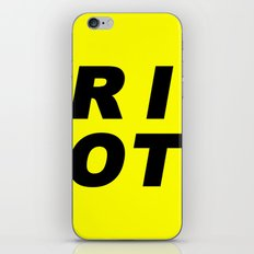 RIOT (BLACK AND YELLOW) iPhone & iPod Skin