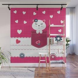 Little cat Wall Mural