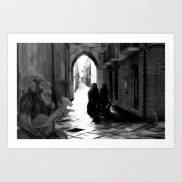 The Octochimp Minstrel Art Print