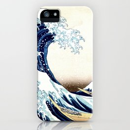 The Great Wave off KanagawA muted iPhone Case
