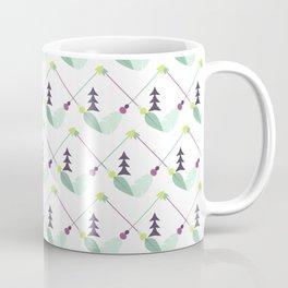 Bohemian geometrical pink green yellow leaves zigzag arrows Coffee Mug