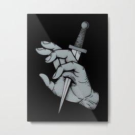 Stabbed Metal Print