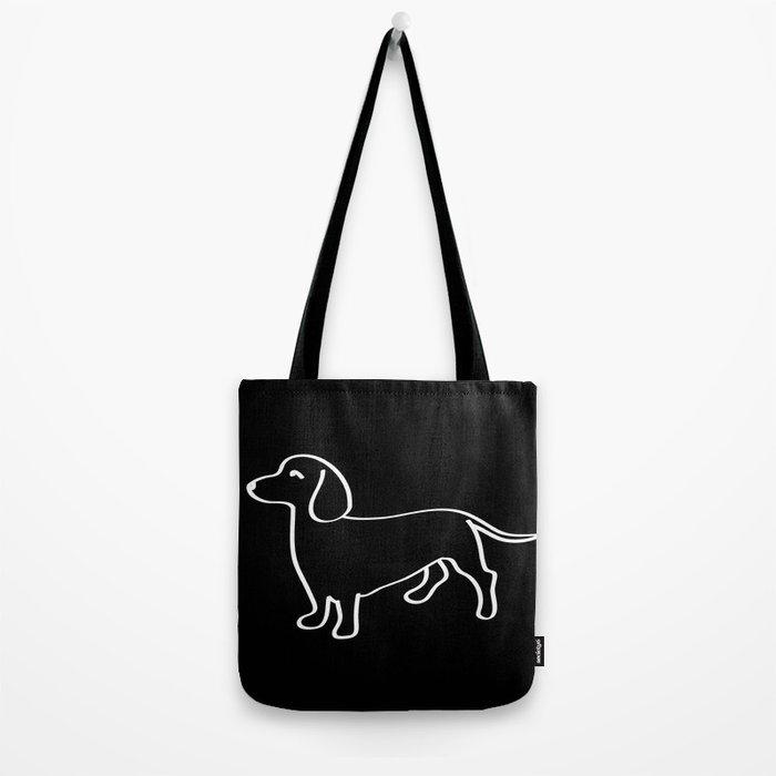 Doxie Love White Tote Bag