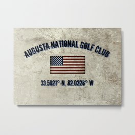 Augusta National Golf Club, Coordinates Metal Print