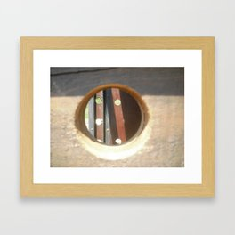 Holes Framed Art Print