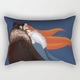 Facing the Night Together Rectangular Pillow