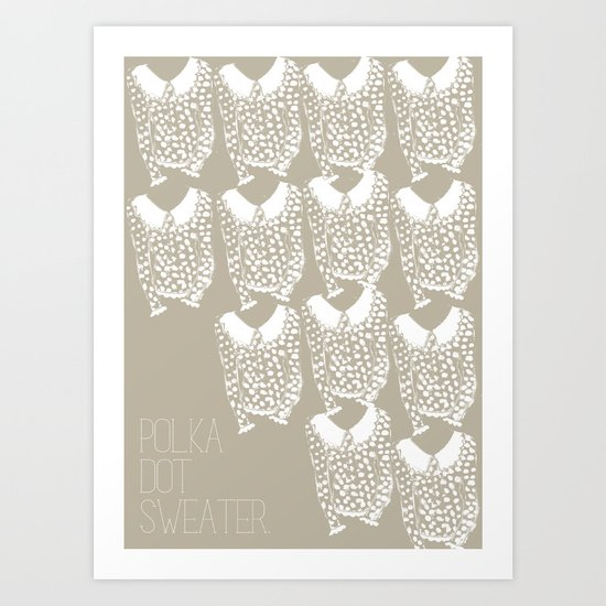 Polka Dot Sweater Art Print