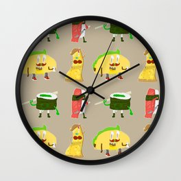 Feed Me- character pattern Wall Clock