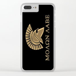 Molon lave-Spartan Warrior Clear iPhone Case