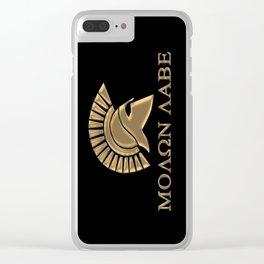 Molon lave-Spartan Warrior Clear iPhone Case