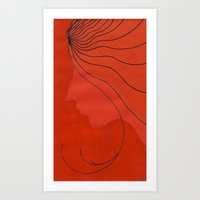 ginger Art Prints featuring Ginger by mojekris