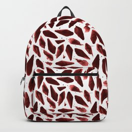 Velvet Burgundy Coral Motif Backpack