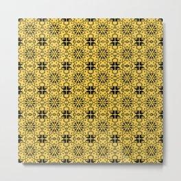 Primrose Yellow Star Geometric Metal Print