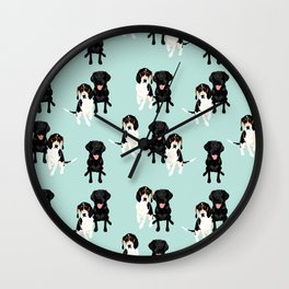 Jasper and Bella Pattern Wall Clock