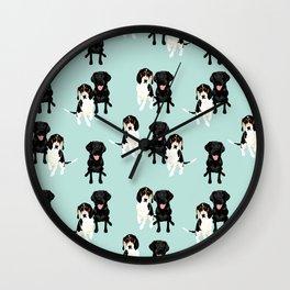 Jasper and Bella Pattern Wall Clock